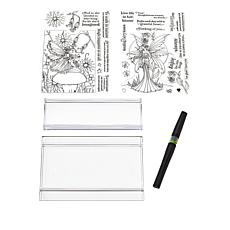 Crafter's Companion Molly Harrison Stamp and Pen Set