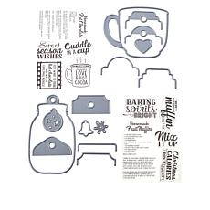 Crafter's Companion Santa's Kitchen Baking Stamp and Die Set