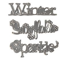 Crafter's Companion Sheena 3-piece Winter Word Dies