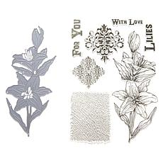 Crafter's Companion Sheena Blooming Lillies Stamp and Die Set