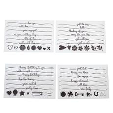 Crafter's Companion Swash Sentiment Clear Stamps 4-pack