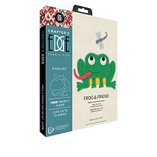 Crafter's Edge Frog and Friend 8-piece Fabric Die Set