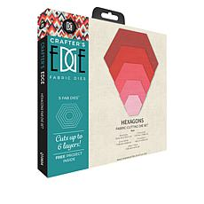 Crafter's Edge Hexagons 5-piece Quilting Die Set
