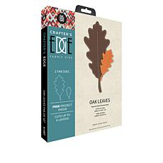 Crafter's Edge Oak Leaves 2-piece Fabric Die Set
