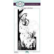 Creative Expressions Boutique Secret Garden DL Pre Cut Rubber Stamp