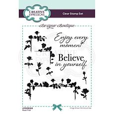 Creative Expressions Designer Collection A6 Stamp Set - Rose Trail
