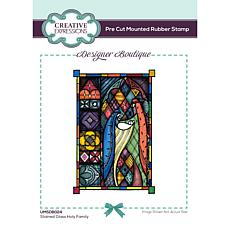 """Creative Expressions Designer Stained Glass Holy Family 6""""x4"""" Stamp"""