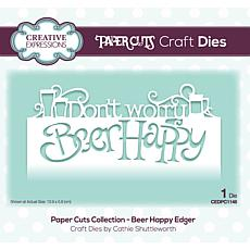 Creative Expressions Paper Cuts Collection - Beer Happy Edger