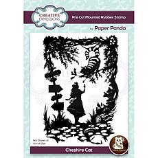 Creative Expressions Paper Panda Cheshire Cat Pre Cut Rubber Stamp