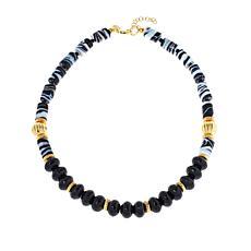 Cristina Sabatini Capri Agate and Glass Bead Necklace