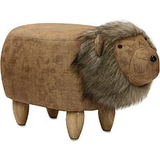 "Critter Sitters 14"" Plush Animal Ottoman - Lion"