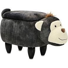 "Critter Sitters 15"" Plush Animal Storage Ottoman - Monkey"