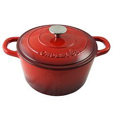 Crock Pot Zesty Flavors  5 Quart Round Enameled Cast Iron Dutch Ove...