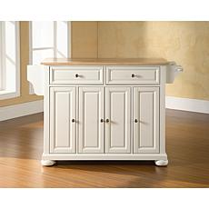Crosley Alexandria Natural Wood Top Kitchen Island