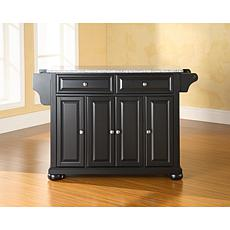 Crosley Alexandria Solid Granite Top Kitchen Island