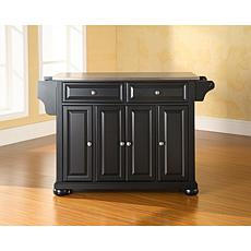 Crosley Alexandria Stainless Steel Top Kitchen Island