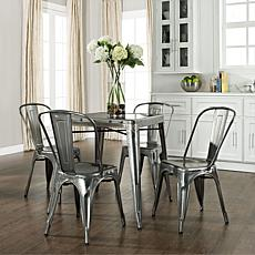 Crosley Amelia 5-piece Metal Cafe Dining Set - Steel