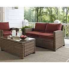 Crosley Bradenton Outdoor Wicker Loveseat - Sangria