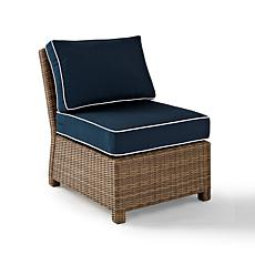 Crosley Bradenton Outdoor Wicker Sectional Chair - Navy