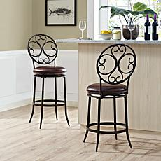 Crosley Furniture Arbor Swivel Counter Stool - Aged Bronze/Brown