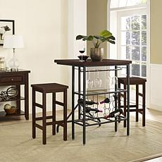 Crosley Furniture Sienna 3-piece Casual Dining Set - Rustic Mahogany