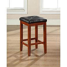 "Crosley Furniture Upholstered Square Seat 2pc 24"" Bar Stool Set-Cherry"