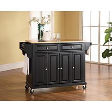 Crosley Natural Wood Top Kitchen Cart