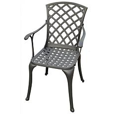 Crosley Sedona Cast Aluminum Arm Chairs-Charcoal Black