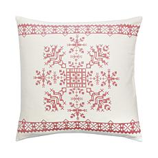 Cross Stitch Snowflake Cross Stitch Pillow