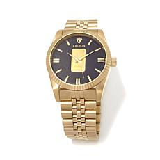 Croton Gold Ingot Goldtone Link Bracelet Watch