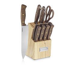 Cuisinart 14-piece Triple Rivet Walnut Cutlery Block Set