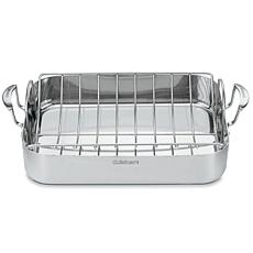 "Cuisinart MultiClad Pro Stainless 16"" Roasting Pan with Rack"