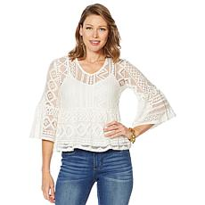 Curations Crochet Top