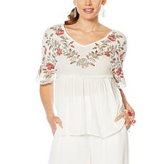 Curations Embroidered Blouse