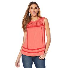Curations Embroidered Knit Tank