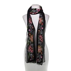 Curations Embroidered Scarf