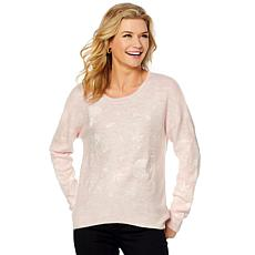 Curations Embroidered Sweater