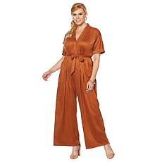 Curations Faux Suede Jumpsuit