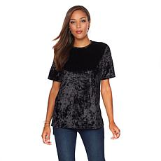 Curations Hi-Low Velvet Top