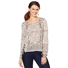 Curations Printed Sweater