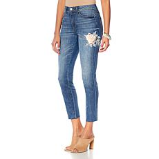 Curations Released Hem Embroidered Jean