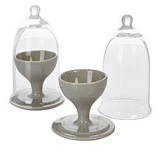 Curtis Stone 2-piece Egg Cup and Cloche Sets