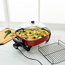"Curtis Stone 5-Quart 12"" x 12"" Dura-Electric Nonstick Skillet"