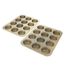 Curtis Stone Dura-Bake Set of 2 Muffin Pans