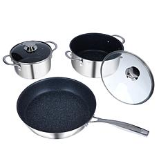 Curtis Stone Dura-Diamond Nonstick 5pc Cookware Set