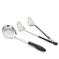 Curtis Stone Stainless Steel 2pc Fryer Utensil Set