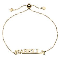 Curved Plate Adjustable Name Bracelet