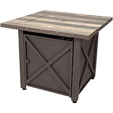 D & H Uniflame LP Gas Fire Table in Brown