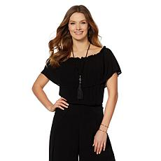 Daisy Fuentes On/Off Shoulder Blouse