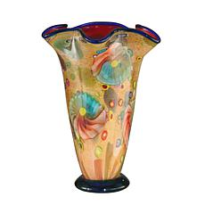 Dale Tiffany Favrile Glass Coast Sand Vase